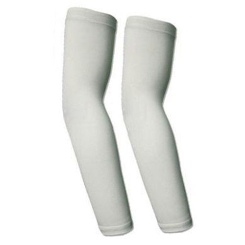 Pair Bike Bicycle Cycling Wear Arm Warmers Arm Warmers Sleeve UV Sun Protection L White