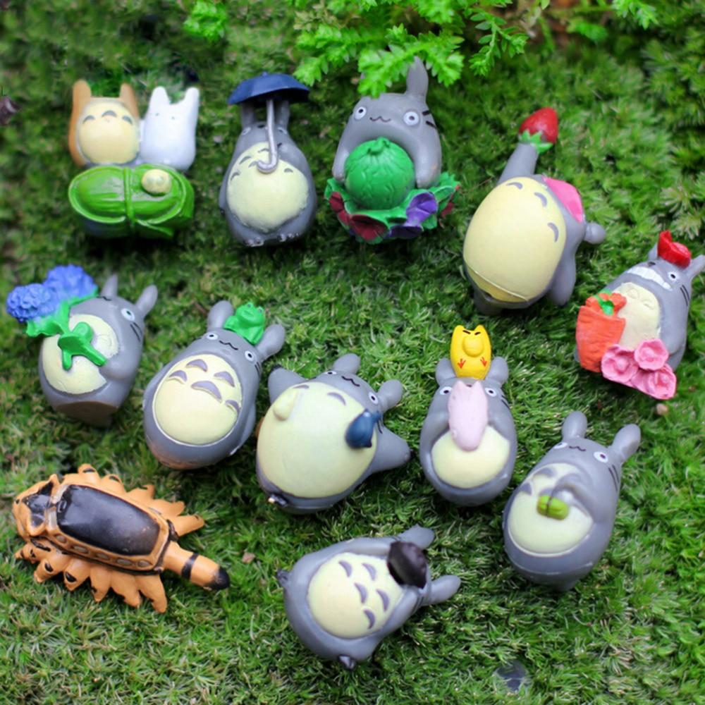 nuevo jardn de hadas de resina decoracin de mi vecino totoro mini figura diy juguetes al