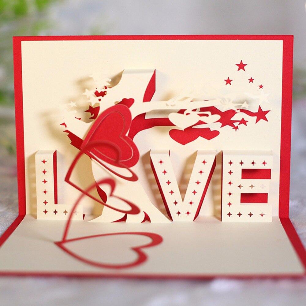 New valentine\'s day Love Tree wedding invitations Greeting Card 3D ...