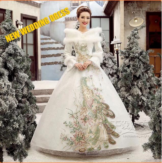 Good Quality New Arriva Phoenix embroidery wedding dresses winter ...