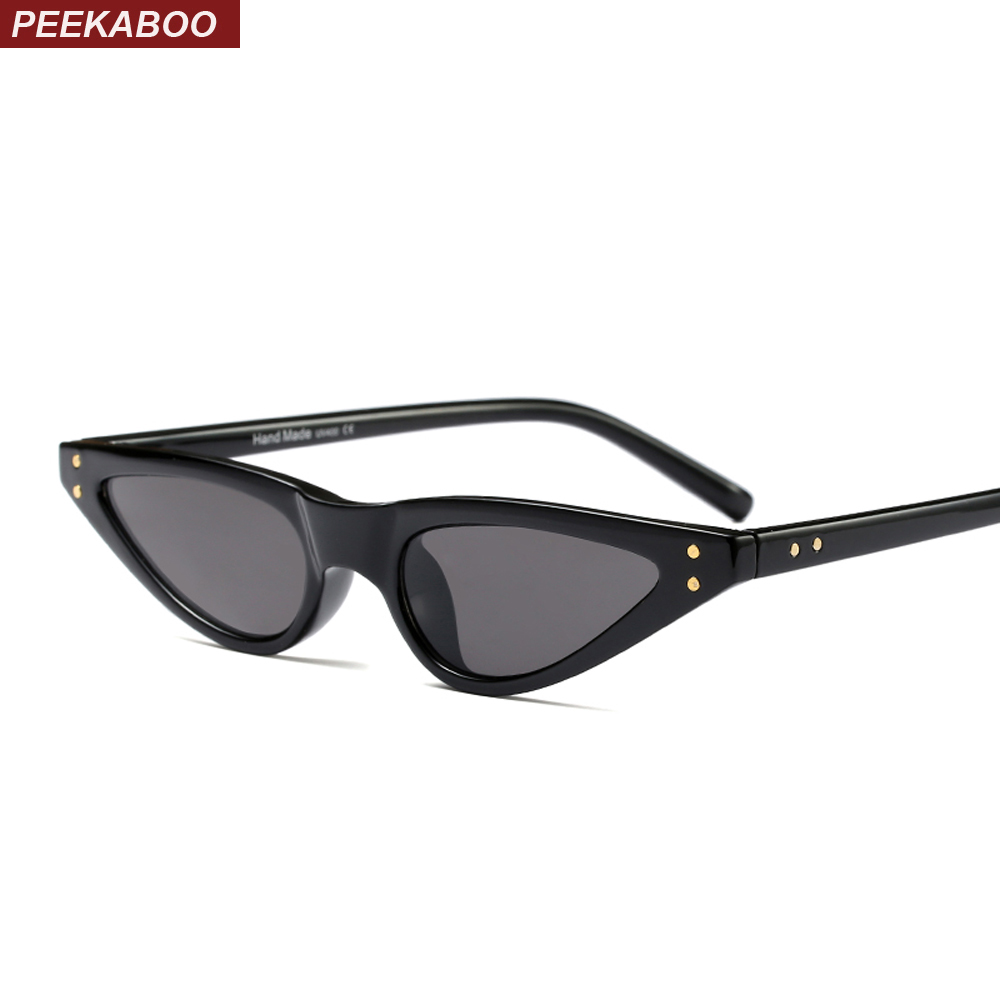 Peekaboo small sunglasses women cat eye vintage black leopard red stylish cat eye sun glasses female 2018 uv400 Christmas Gift