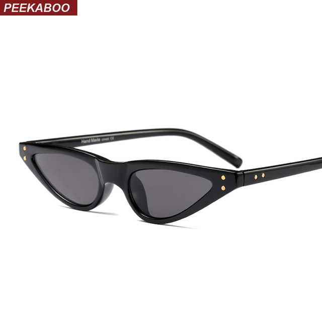 Peekaboo pequeno óculos de sol olho de gato mulheres leopardo preto vermelho  elegante olho de gato do vintage óculos de sol feminino 2018 uv400 Presente  de ... 19d0b660ad