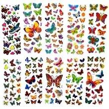 10 Sheets Colorful Butterflies Scrapbooking Bubble Puffy Stickers Kawaii Emoji Reward Kids Toys ST03