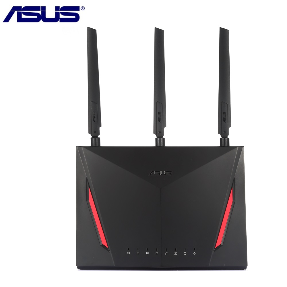 Router inalámbrico ASUS RT-AC86U 2900 Mbps Dual Core 1,8 GHz IEEE 802.11ac/g/n Router Wifi con antenas