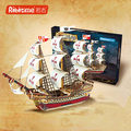 Robotime 3D WOOD PUZZLE Kids DIY Ship Model Building Toy WOODCRAFT CONSTRUCTION KIT Sailing Boat