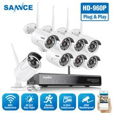 SANNCE 960P 8CH Wireless Security Camera System 8PCS IP66 Weatherproof Indoor Outdoor Wifi Cameras Plug-and-Play Wi-fi CCTV Kit цена