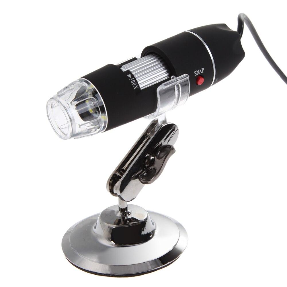50-500X 2MP USB Microscope Numérique Microscope Endoscope Caméra Loupe 8 Led HD Capteur CMOS Couleur