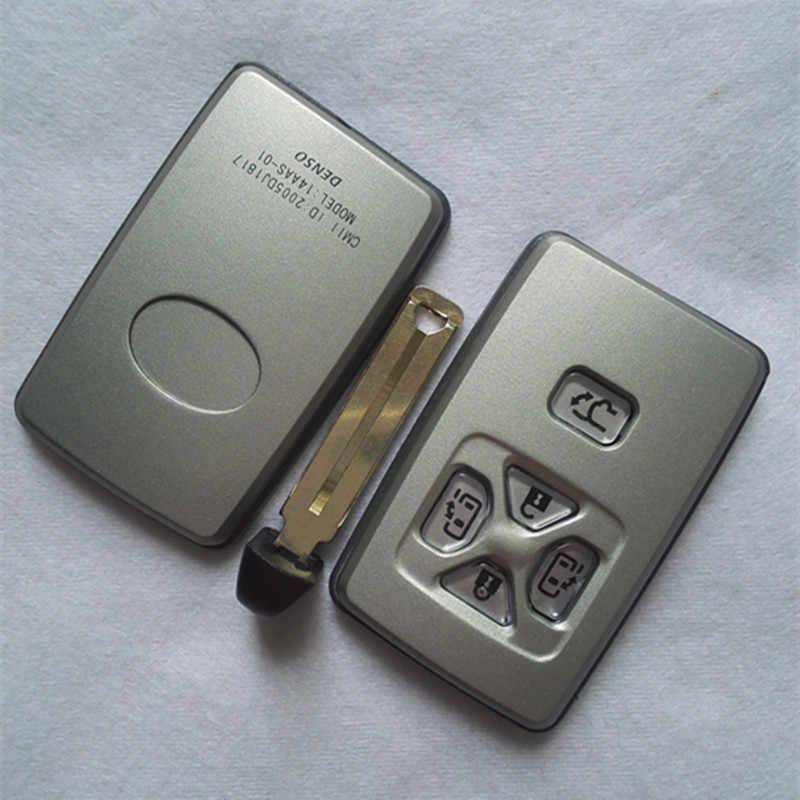 DAKATU ยี่ห้อใหม่ Shell Smart Remote Key กรณี Fob 5 ปุ่มสำหรับ Toyota Previa Alphard Prius Smart Key ใบมีด