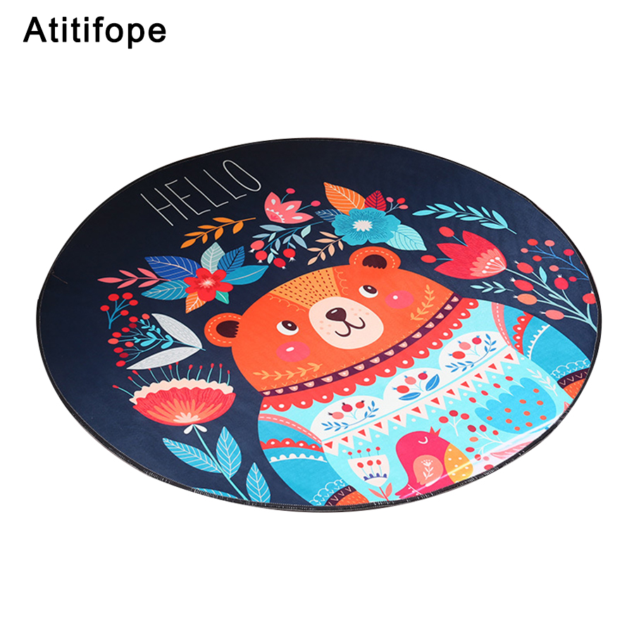 цена на Baby Play Mat Kids Play Game Mats Round Carpet Rugs Mat Cotton Crawling Blanket Floor Carpet Baby Play Blanket