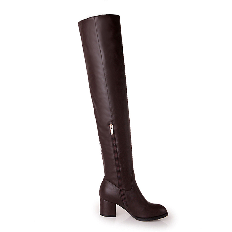 women winter boots stretch fabric fashion high heels women s boots elegant over the knee long boots winter boots LDHZXC 2018 new Winter Women Boots Stretch Fabric Over the Knee Boots Square heel Thigh High Boots Ladies Long Boots