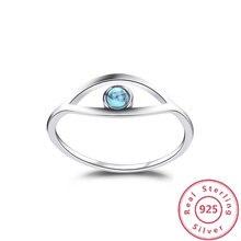 Bleu Turquoise 925 bagues en argent Sterling pour les femmes bague de fiançailles en argent 925 bijoux opale anneaux cadeau de luxe à des amis