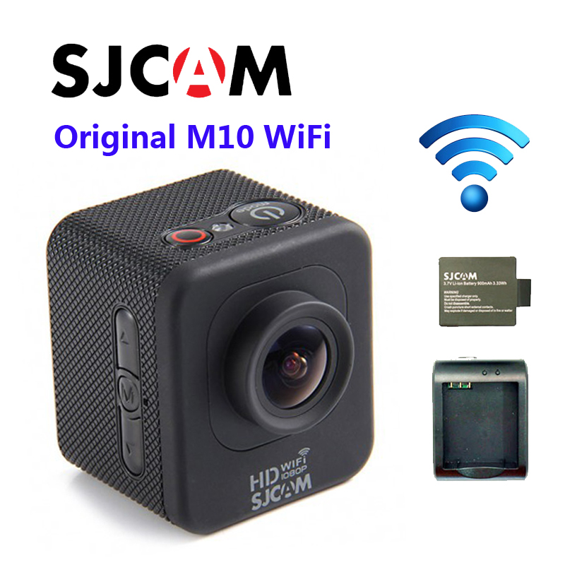 Free Shipping!!Original SJCAM M10 Wifi Full HD 1080P Diving 30M Waterproof Action Camera Sport DVR Connector Set original sjcam sj4000 wifi 2 0 lcd action camera full hd 1080p waterproof sport camera diving 30m waterproof beter gopro camera