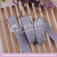 "#90104 Glitter metallic thread FOE for hair tie bands, 5/8"" glitter fold over elastic with metallic thread 100 yards/lot"
