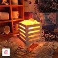 Resina criativo adorno quarto candeeiro de mesa de luz lâmpada de cristal de sal Do Himalaia lâmpadas de luz da noite da cabeça de uma cama