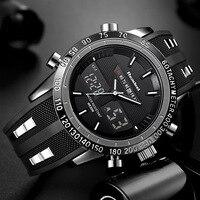 2018 יוקרה חדשה מותג גברים ספורט שעונים עמיד למים LED דיגיטלי קוורץ גברים צבאי שעון יד שעון זכר Relogio Masculino