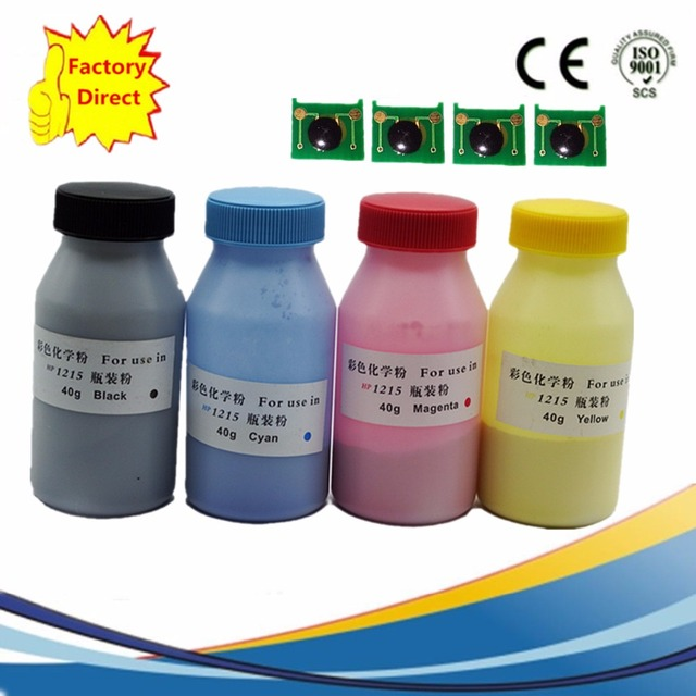 4 X Refill Color Laser Toner Powder Kits Chips For Canon Lbp 7010c