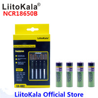 4pcs Liitokala 3 7V 3400mAh 18650 Li Ion Rechargeable Battery NO PCB Lii 402 USB 26650