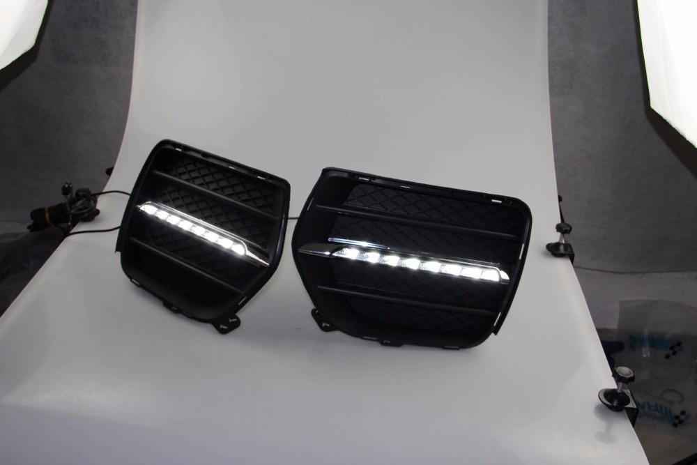 Free shipping vland factory for BMWs X6 E71 2010 2011 2012 Car Styling LED Daytime Running Light DRL LED free shipping for vland factory for car head lamp for audi for a3 led headlight 2008 2009 2010 2011 2012 year h7 xenon lens