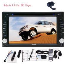 Android 6.0 car DVD Player Black Car Stereo GPS Navigation Head Unit Autoradio FM Radio Wifi External Mic and FREE Backup Camera