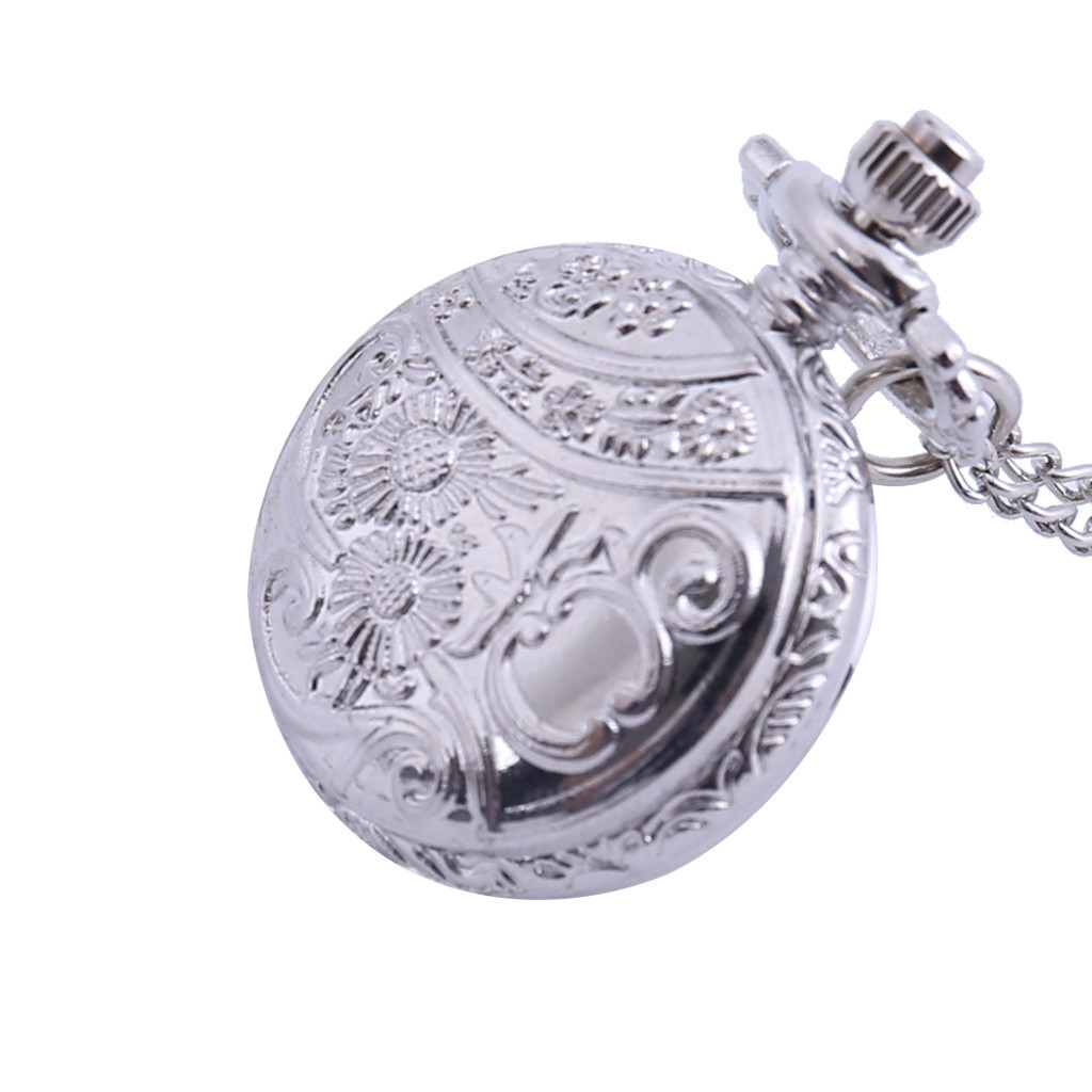 Personality Fashion Retro Large Pocket Watch Engraved Quartz Pocket Watch Relogio Masculino Men Reloj Hombre Bayan Kol Saati