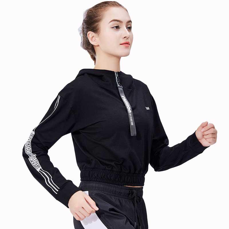 Women Fitness Tops Workout Training Exercise Gym T Shirts Sport Sweatshirt T shirt Yoga Hoodies Running Long Sleeve Tees 18 357
