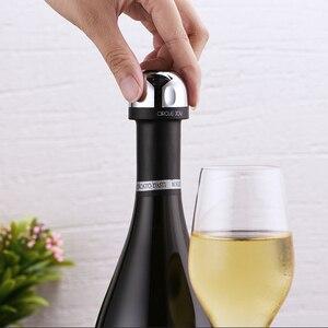 Image 5 - מעגל שמחה נוצץ יין מיני שמפניה מיני פקק יין פקק סיבובי מנעול DesignVacuum יעיל שימור