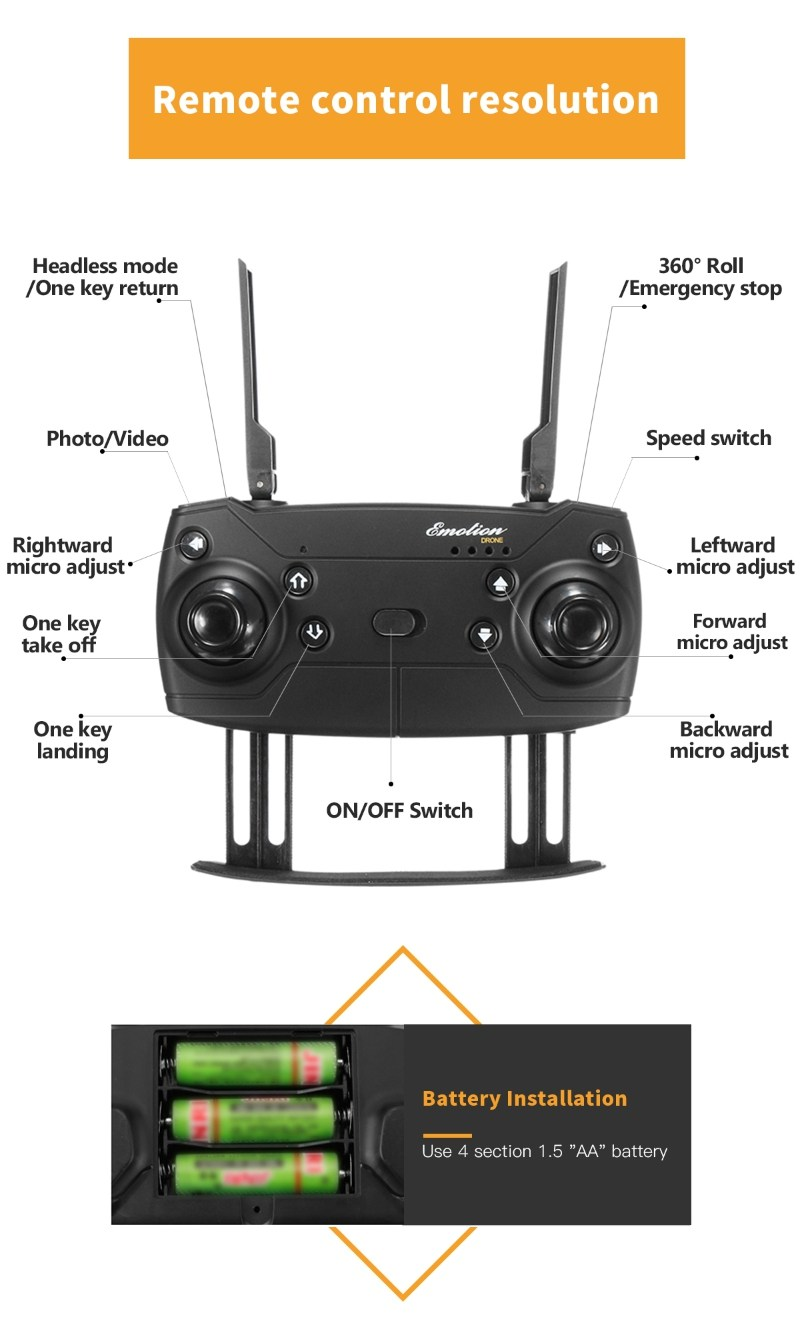 Eachine E58 Manual : eachine, manual, Foldable, Selfie, Drone, EACHINE, Camera, Quadcopter