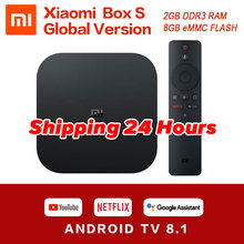 Original mondial Xiao mi Box S 4K HDR Android TV 8.1 mi Boxs 2G 8G WIFI Google Cast Netflix IPTV décodeur mi Box 4 lecteur multimédia(China)
