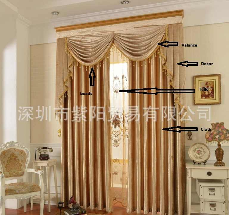 Blackout Ready Curtain 3pcs Lot