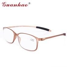 Guanhao TR90 Frame Resin Lens Clear Glasses Man Women Ultra-light Plastic Frame Slim Reading Glasses Foldable 1.0 1.5 2.0 2.5