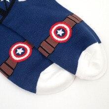 korean harajuku super fashion 3d cartoon batman captain america women cotton funny socks cute superhero female lovely socks