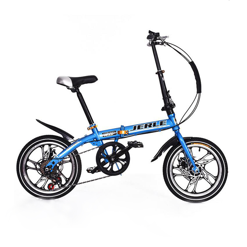 16 inches 14 inch folding bike with disc brakes Children bicycle 7 speed mountain kid s