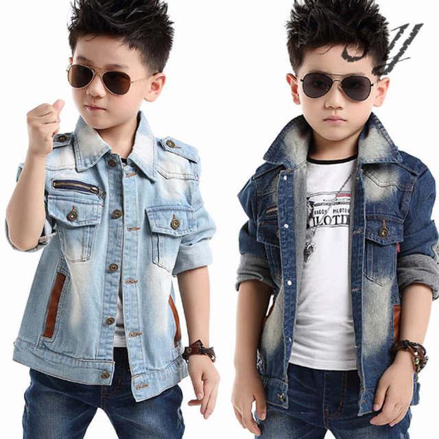 7c339ea5efbb brand denim jaket children spring autumn kid boy jeans jacket cowboy style  long sleeve turn-down collar denim boy winter outfit