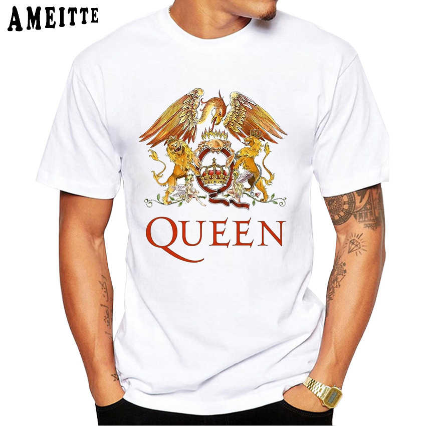 Freddie Mercury The queen Band Art T-Shirt uomo Hip Hop Retro Rock Hipster T Shirt Vintage casual Harajuku Boy top Punk Man tees