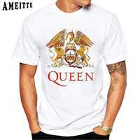 Freddie Mercury The Queen Band Art T-Shirt Men Hip Hop Retro Rock Hipster T Shirt Vintage Casual Harajuku Boy Tops Punk Man Tees