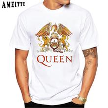 Freddie Mercury w motyw z zespołem Queen sztuki T-Shirt mężczyźni Hip Hop Retro Rock Hipster T koszula w stylu Vintage Casual Harajuku chłopiec topy Punk mężczyzna koszulki tanie tanio AMEITTE Krótki O-neck Regular Suknem Modalne Other
