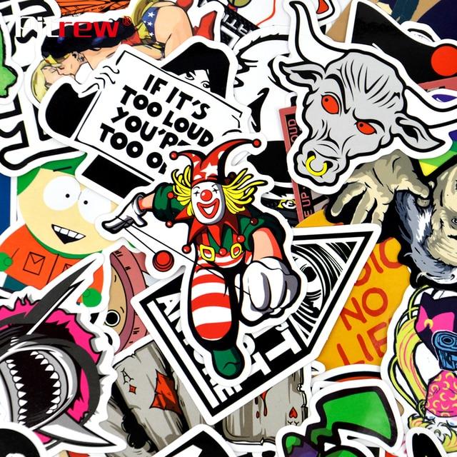 Pitrew 100 pièces Graffiti Autocollants De Voiture Moto Vélo Skate autocollant pour ordinateur portable Bombe JDM Autocollant pour Voiture Vinyle Autocollant