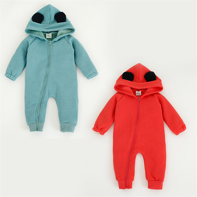 Newborn Baby Rompers Winter Warm Baby Jumpsuits Baby Boys Girls Clothes Hoodies Boys Girls Rompers ropa bebe recien nacido