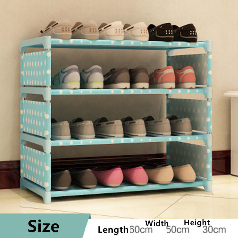 lemari sepatu sepatu penyimpanan organizer tebal non woven kain gabungan rak furniture
