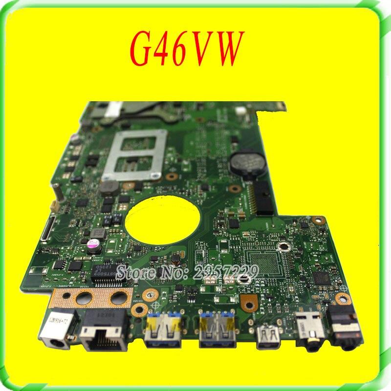 For Asus Motherboard ROG G46VW REV2.0 Mainboard PGA989 HM77 Fully Tested n56vb motherboard n56vm rev2 3 mainboard gt740 4g ddr3 pga 989 fit n56vm n56vj n56vz 100% tested