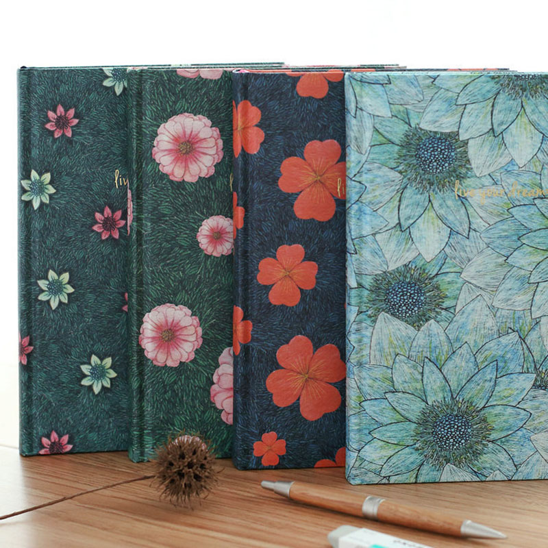 116 Sheets Blank Inner Hardcover Printing Protable Notebook Creative Simple 4 Styles Daily Memos Notepad Cute Notebook vintage creative the twilight saga breaking dawn notebook with magnetic snap fashion trend retro hardcover notepad memos