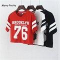 Feliz bastante nuevo estilo de verano de Brooklyn 76 moda mujeres camiseta punk top de algodón camiseta mujer t camisa t gráfica tops