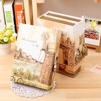 Famous building Notebook Gift diary Note Book Agenda planner box Material escolar caderno Office stationery supplies GT100