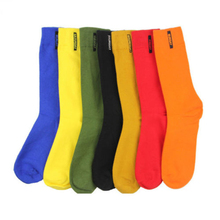 1 Pair Fashion Mens Cotton Socks Solid Color British style Business Casual weekly One Size