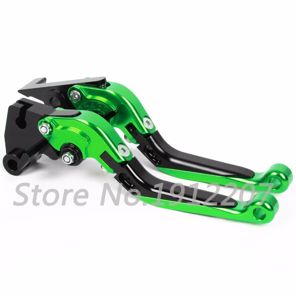 ФОТО For Kawasaki ZX7R/ZX7RR 1996-2003 Foldable Extendable Brake Clutch Levers Aluminum Alloy CNC High-quality Folding&Extending 2002