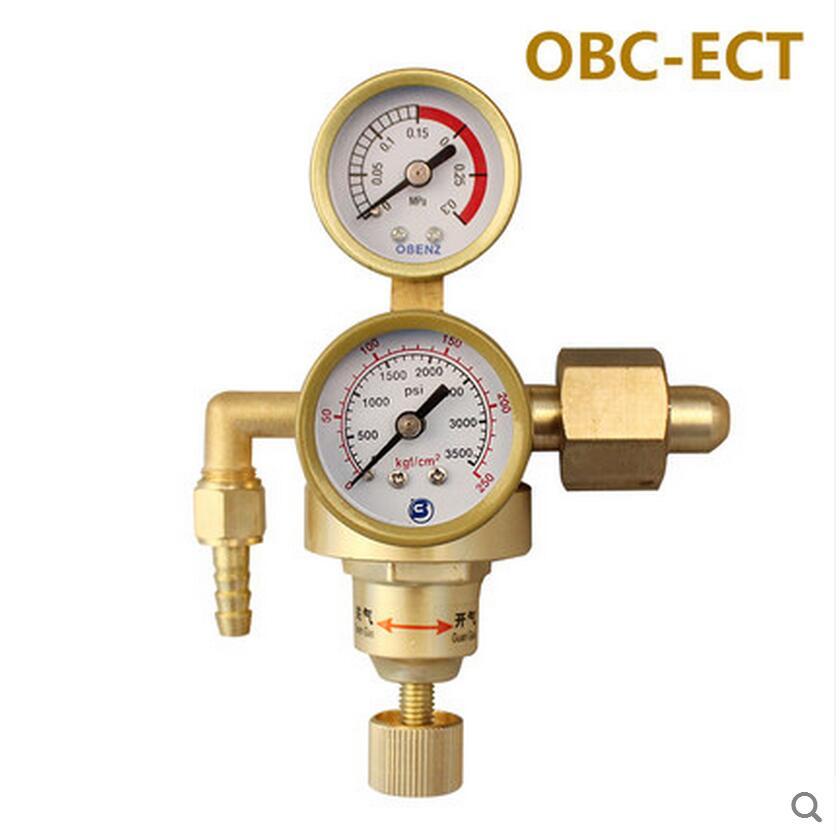 OBC-ECT AR Reducer Pressure Gas TIG Flow Meter Welding Weld Regulator Gauge For Welder