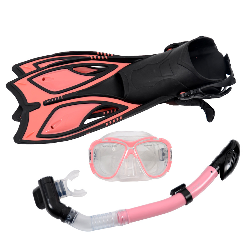 Professional scuba diving mask and snorkel set tempered lens diving mask dry top snorkel gears+swimming fins watersport gears yonsub hot sale scuba professional diving equipment dive mask dry snorkel diving fins set snorkeling gear