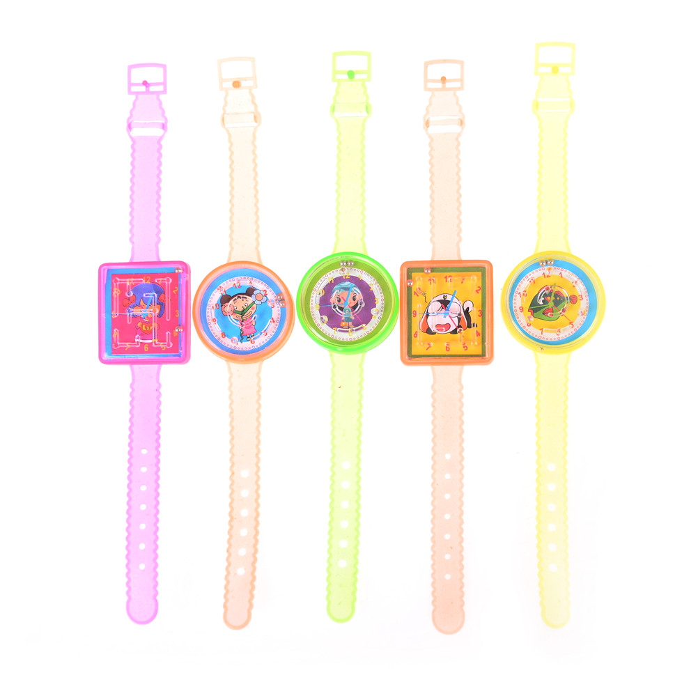 For Girls Boys Kids Birthday Gift 5pcs/lot Colorful Ball Maze Game Puzzle Labyrinth Watch Toys