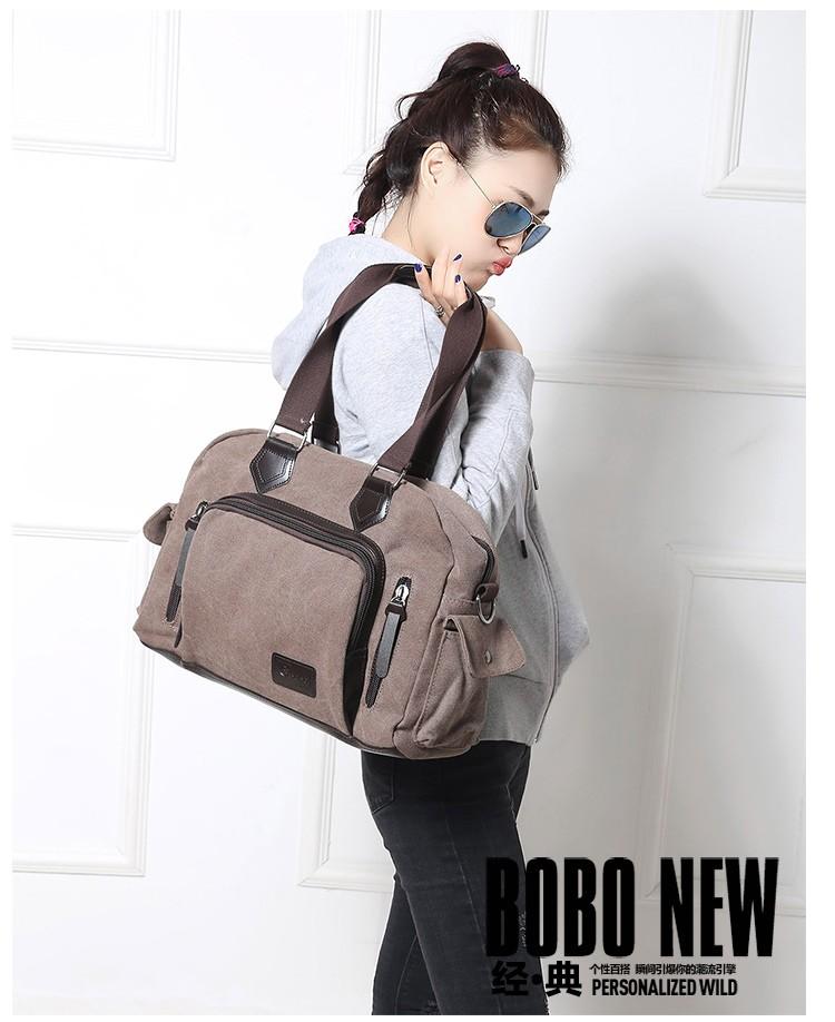 2016 men\'s travel bag canvas men messenger bag brand men\'s bag vintage style briefcase,Travel Shoulder bag (10)