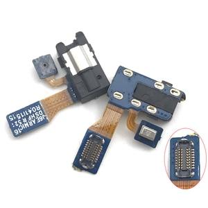 Image 1 - 20PCS חדש תואם עבור Samsung J6 2018 J600F A6 2018 A600F אוזניות אודיו שקע סרט מיקרופון להגמיש כבל החלפה חלקי